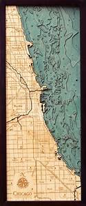 Cape Nautical Chart 3d Chicago Nautical Wood Map Depth Chart