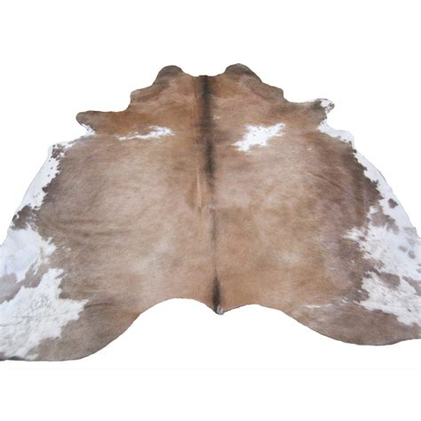 Southwest Rugs Tan & White Cowhide Ruglone Star Western