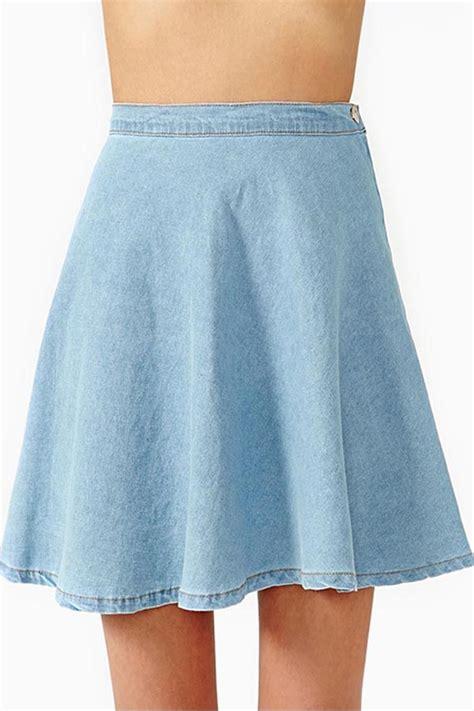 light blue jean skirt light blue flared denim skirts skirts maxi skirt pencil