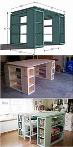 creative ideas diy modern craft table modern crafts With considerations building craft room ideas