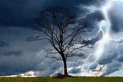Storm Rain Lightning Nature Wind Dangerous Landscape