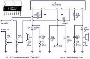 2x15 Watt Stereo Amplifier Using Tda4935