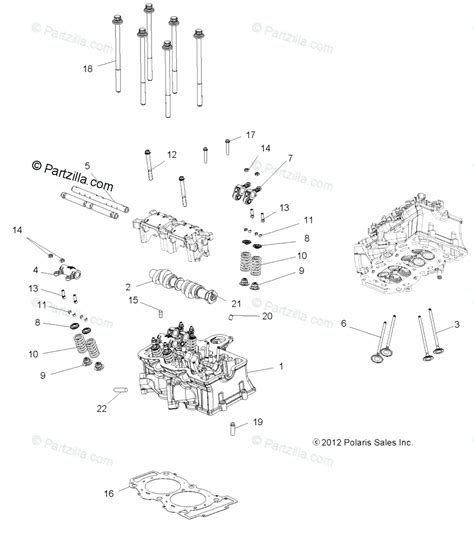 Polaris Atv Oem Parts Diagram For Engine Cylinder