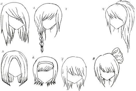 draw female anime hairstyles hair anime hair