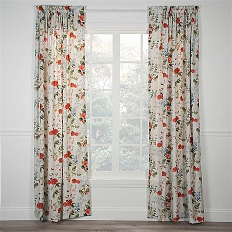 floral window curtains botanical floral rod pocket window curtain panel bed