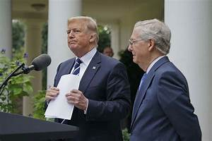 Trump shows unity with McConnell, rips Democrats ...