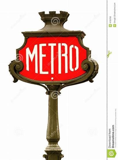 Metro Sign Paris Background Editorial
