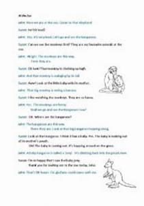 English worksheets: At the Zoo (dialogue)