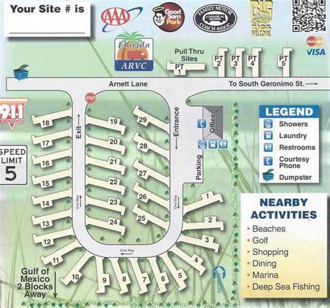 rv resort park destin map geronimo florida beach fl parks camping campground trailer miramar campgrounds state parking maps campsite resorts