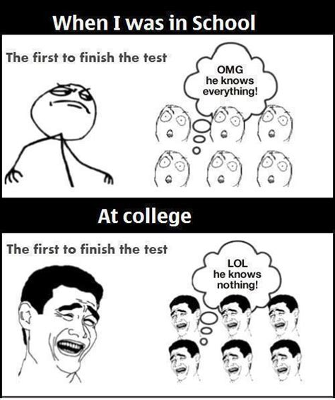 College Test Meme - 44 most funniest school memes of all the time