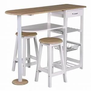 Table Bar Rangement : table bar et 2 tabourets blanc l 119 x p 37 x h 88 cm achat vente tabouret table bar et 2 ~ Teatrodelosmanantiales.com Idées de Décoration