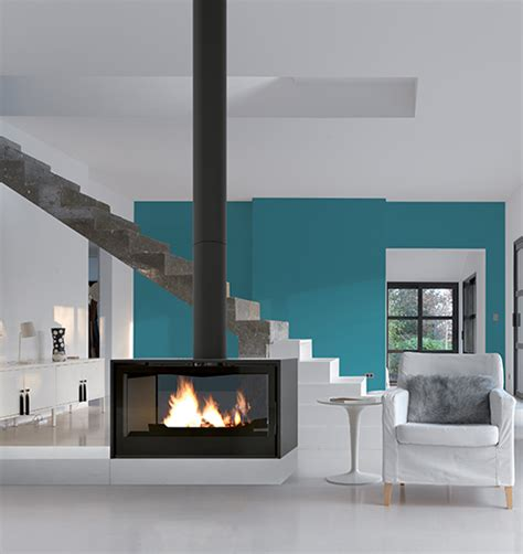 axis  double sided freestanding wood fireplace