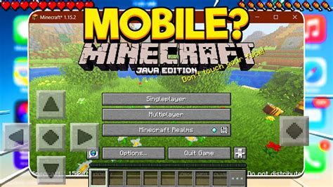 Java Edition For Mobile Minecraft Pocket Edition Youtube