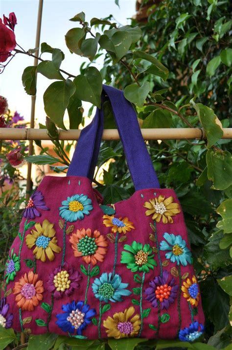 pin  zahra  embroidered bags embroidered bag diy knitting reusable tote bags
