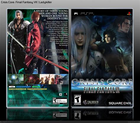 Crisis Core Final Fantasy Vii Psp Box Art Cover By Ladykiller
