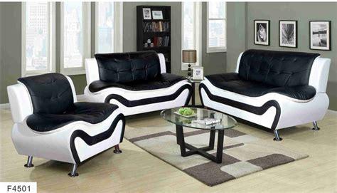 Black & White Ceccina Modern Leather Sofa