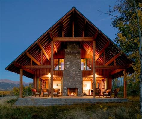 modern ranch house  colorado beautiful rustic design centers  fireplace