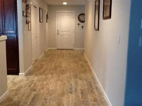 redwood 6 in x 24 in glazed porcelain floor and