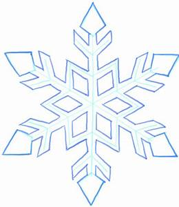 How to Draw a Snowflake Step by Step Drawing Tutorial ...