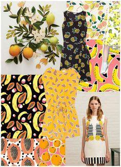springsummer  print pattern trend fruity spring