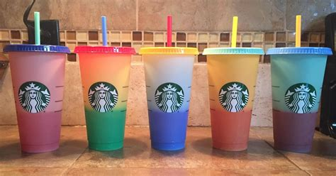 starbucks colour changing reusable cups  popsugar