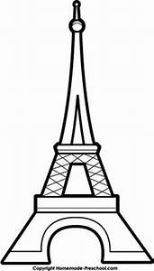 Eiffel Tower pattern. Use the printable outline for crafts ...