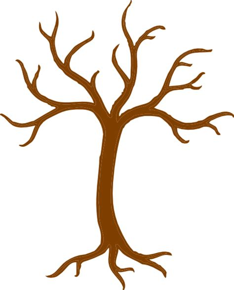 Tree Trunk And Roots Template by Tree Trunk And Branches Clip Art At Clker Vector