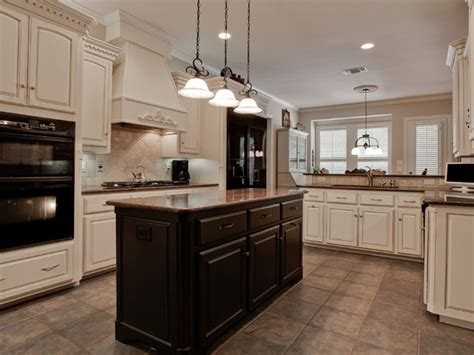 Kitchen Floors With Oak Cabinets, Black And White