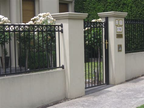 house front fence front fence on pinterest front yard fence steel fence and brick fence