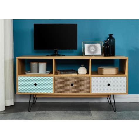 bureau design suedois colette meuble tv scandinave pieds en métal laqué noir
