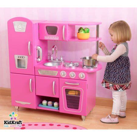 kidkraft vintage play kitchen bubblegum pink walmartcom