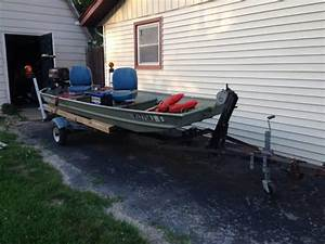 14 Ft Jon Boat With Trailer And Accessories