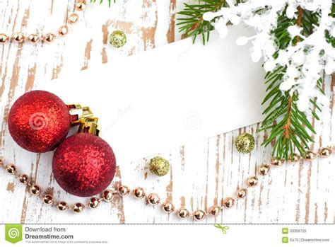 christmas card with decorations royalty free stock photo