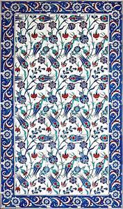 turkish_tile_art_serbet_laleler_b.jpg (709×1207) | çini ...