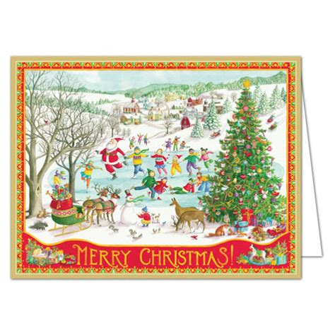winter wonderland christmas boxed greeting cards paperstyle