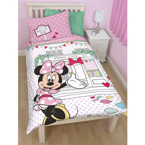 disney mickey or minnie mouse single duvet cover sets kids