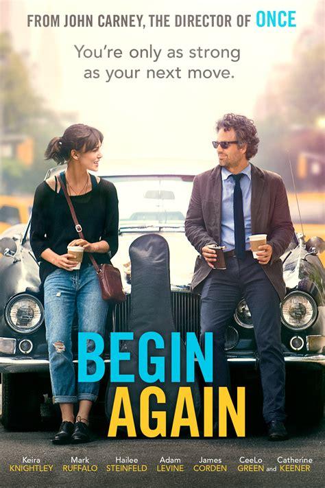 begin again poster movie dvd trailer