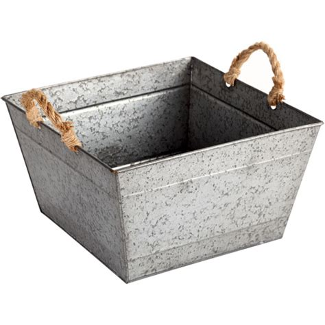 better homes and gardens square tapered galvanized bin
