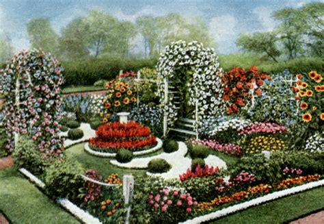 vintage annual flower formal garden plan vintage fangirl