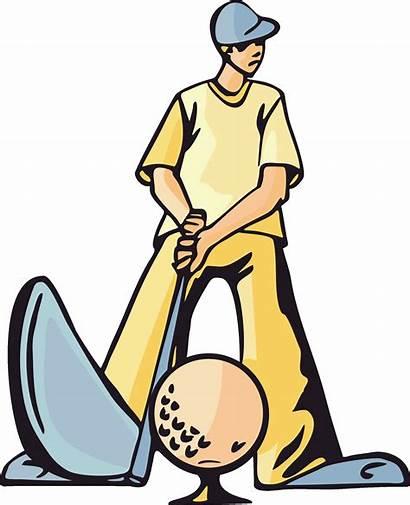 Golf Clip Golfer Clipart Cartoon Golfers Golfing