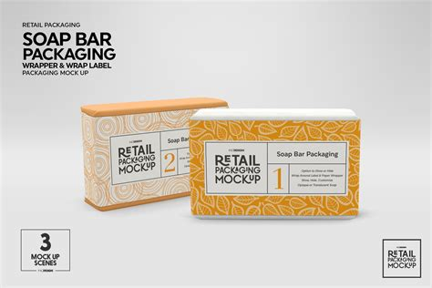 Put label design and change the color of soaps by using smart objects. Retail Soap Bar Packaging Mockup By INC Design Studio ...