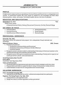 adjunct professor resume example history and politics With economics professor resume