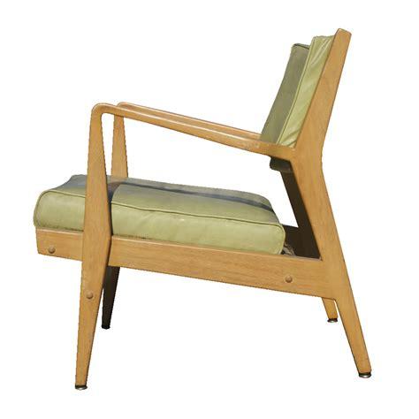 vintage jens risom wood lounge arm chair