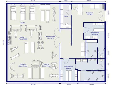 home gym floor plan roomsketcher