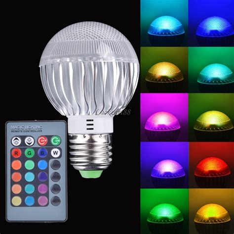 new e27 15w rgb led light color changing l bulb 85 265v