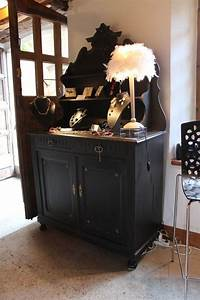 Buffet Noir Mat : buffet saint hubert patin noir meuble pinterest buffet armoires and shabby ~ Dallasstarsshop.com Idées de Décoration
