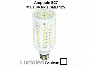 Ampoule Led E27 12v : ampoule led vis e27 12v 24v ma s 84 leds lumi re du jour ~ Edinachiropracticcenter.com Idées de Décoration