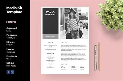 media kit template 20 media kit templates to pitch your to brands and journalists creative market