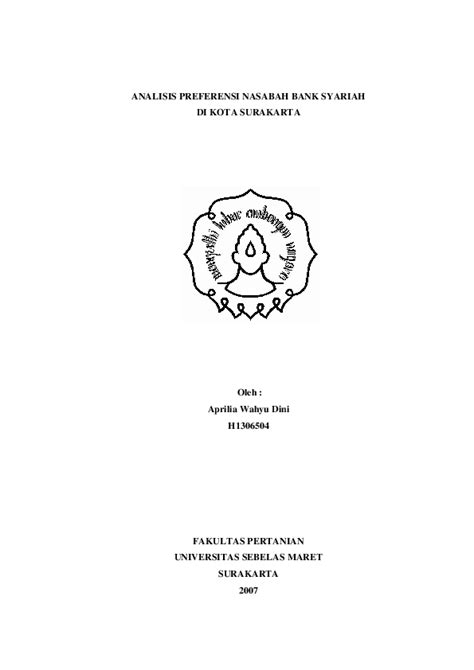 (PDF) Skripsi analisa bank syariah | Rama Fajrur