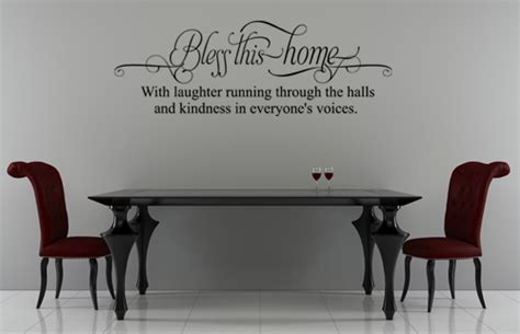 bless  home wall decals trading phrases